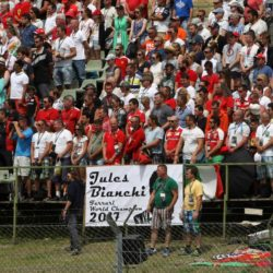 © Photo4 / LaPresse 26/07/2015 Budapest, Hungary Sport  Grand Prix Formula One Hungary 2015 In the pic: Tribute to Jules Bianchi
