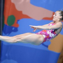 Foto Fabio Ferrari - LaPresse 26/07/2015 Kazan ( Russia )  Sport  16 Campionati del mondo FINA 2015 - Diving - 1m piattaforma donne.  nella foto: Tania Cagnotto  (Ita)  Photo Fabio Ferrari - LaPresse 25 July 2015 Kazan ( Russian )  Sport 16th FINA World Championship 2015 - Diving - 1m Springboard Women. in the picture: Tania Cagnotto  (Ita)