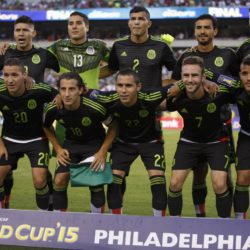 July 26, 2015: Mexico poses for the team photo during the CONCACAF Gold Cup 2015 Final match between Jamaica and Mexico at Lincoln Financial Field in Philadelphia, Pennsylvania. Christopher Szagola/CSM. Lapresse Only italyVittoria del Messico nella finale Concaf 2015