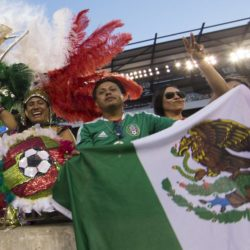 July 26, 2015: Mexico fans cheer their team on during the CONCACAF Gold Cup 2015 Final match between Jamaica and Mexico at Lincoln Financial Field in Philadelphia, Pennsylvania. Christopher Szagola/CSM. Lapresse Only italyVittoria del Messico nella finale Concaf 2015