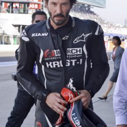 Keanu Reeves bei einer Testfahrt mit seinen Arch KRGT-1 Motorrad beim Suzuka 8 Hours FIM Endurance Rennen auf der Suzuka Rennbahn / 250715***Kenau Reeves at a test drive at Suzuka circuit for the 8 Hours FIM Endurance race, July 25th, 2015*** Lapresse Only italyKenau Reeves in un giro di prova sul circuito di Suzuka per la 8 Ore FIM Endurance *** Local Caption *** 20301938