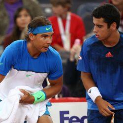 Rafael Nadal und Jaume Munar im Doppel zwischen Nadal/Munar und Bolleli/Fognini bei den bet-at-home German Open 2015 in Hamburg/ 270715***Tennis bet-at-home German Open 2015 on July 27, 2015 in Hamburg, Germany.*** Lapresse Only italyTennis - Doppio tra Nadal-Munar e Bolleli-Fognini al German Open 2015 a Amburgo *** Local Caption *** 20307783