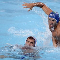 Foto Fabio Ferrari - LaPresse29/07/2015 Kazan ( Russia ) Sport 16 Campionati del mondo FINA 2015 - Pallanuoto Uomini - Russia vs Italia  nella foto: durante la gara.GIACOPPO MassimoPhoto Fabio Ferrari - LaPresse29 July 2015 Kazan ( Russian ) Sport16th FINA World Championship 2015 - Men's Water Polo - Russia vs Italia - Preliminary Round - Group Bin the picture:during the race.GIACOPPO Massimo
