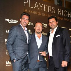 Michael Stich, Jens Pelikan und Detlef Hammer bei der Players Night im Rahmen der Bet-at-home Open 2015 am Rothenbaum in Hamburg / 290715 *** Players' night at the bet-at-home Open in Hamburg, Germany, July 29, 2015 *** Lapresse Only italyPlayers Night all'ATP Open 2015 di Amburgo *** Local Caption *** 20317440