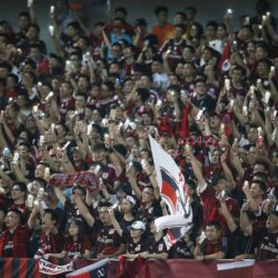Fans of A.C. Milan reacts during the International Champions Cup soccer match in Shanghai, July 30, 2015. REUTERS/Aly Song