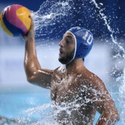 Foto Fabio Ferrari - LaPresse 31/07/2015 Kazan ( Russia )  Sport  16 Campionati del mondo FINA 2015 - Pallanuoto Uomini - Usa vs Italia   nella foto: durante la partita.LUONGO Stefano  Photo Fabio Ferrari - LaPresse 31 July 2015 Kazan ( Russian )  Sport 16th FINA World Championship 2015 - Men's Water Polo - Usa vs Italia - Preliminary Round - Group B in the picture:during the match.LUONGO Stefano
