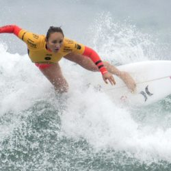 July 29, 2015 - Huntington Beach, CA, USA - Carissa Moore competes in second round of U.S. Open of Surfing at Huntington Beach, California on Wednesday, July 29, 2015. ..///ADDITIONAL INFORMATION: usopen.sports.0730-7/29/15- KYUSUNG GONG, STAFF Kyusung Gong – US Open of Surfing Day 5 (Credit Image:  Kyusung Gong/The Orange County Register via ZUMA Wire) Lapresse Only italyU.S. Open of Surfing 2015 a Huntington Beach