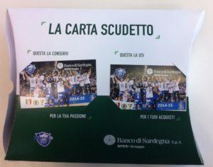 Dinamo Sassari Carta scudetto Banco di Sardegna