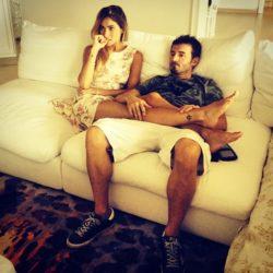 Biaggi con la ex moglie Eleonora Pedron quando ancora erano innamorati