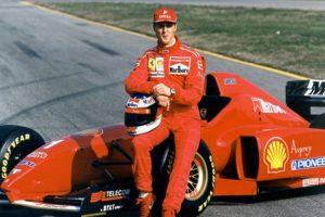 Michael-Schumacher-Ferrari-1996esordio con ferrari