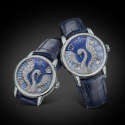 Métiers d'Art Swan 86675/000G-B115 et 86677/000G-B116