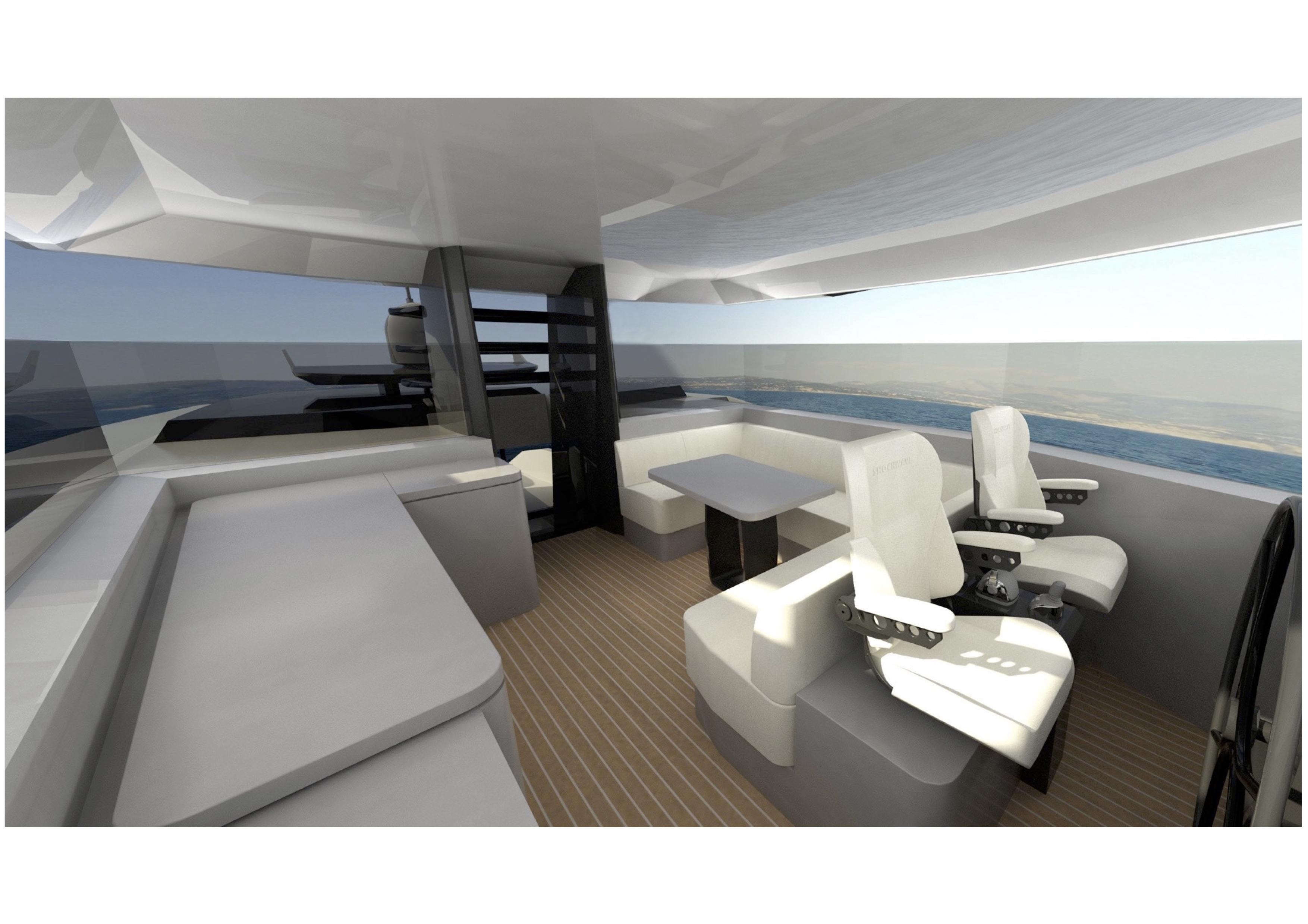 Arcadia yachts presenta sherpa l 39 imbarcazione dal design for Interni minimalisti