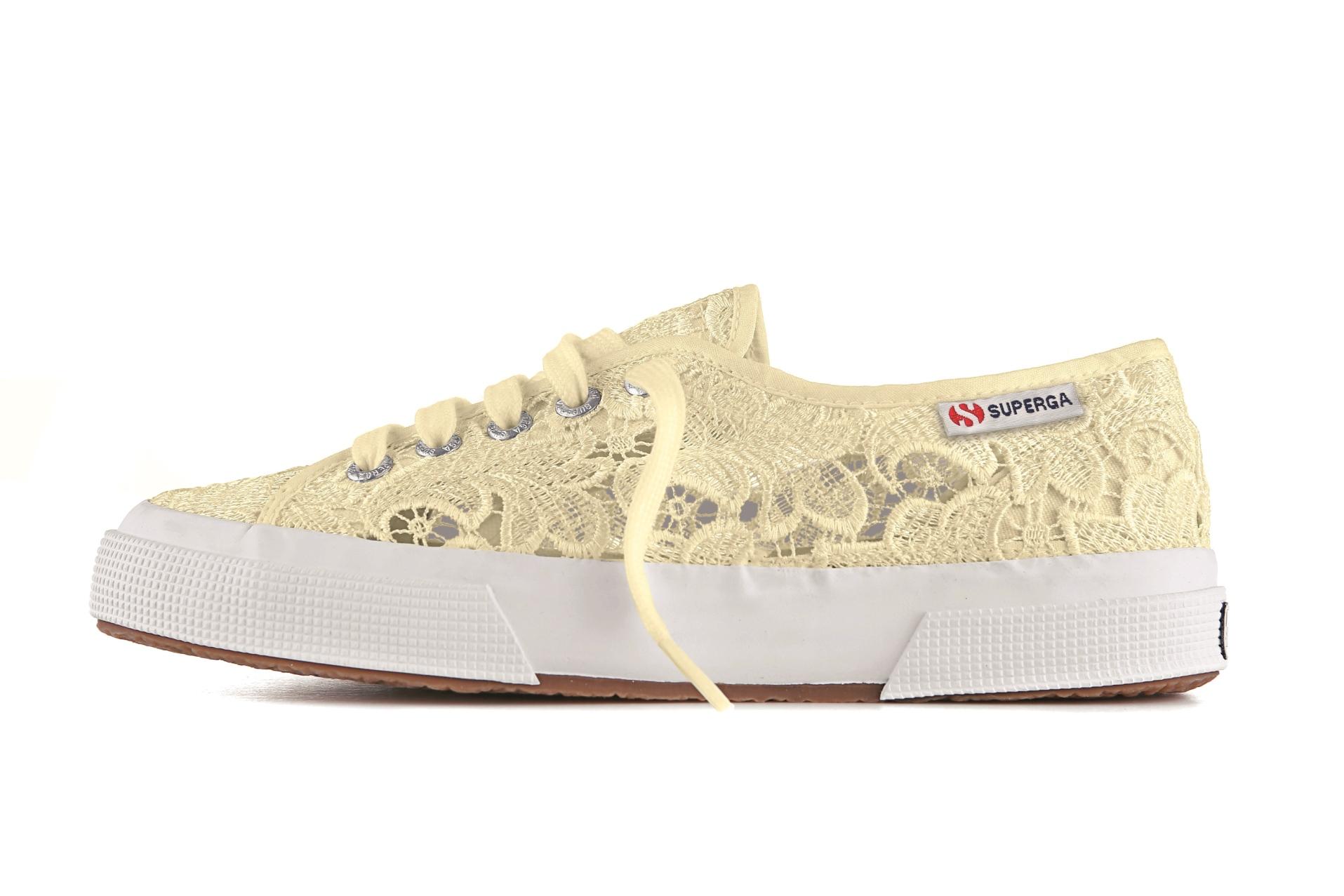 scarpe superga con pizzo