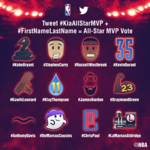 NBA Unveils Twitter Emojis as Part of Kia NBA All-Star MVP Voting