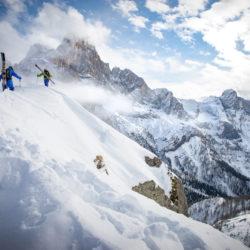 King of Dolomites 2016 Christoph Oberschneider, riders Matthias Aigner & Lukas Oberschneider