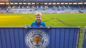 Charlie piccolo tifoso del Leicester