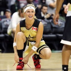 eugenie bouchard all star game nba1