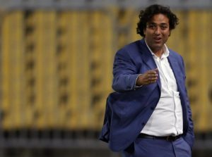 "El Zamalek's coach Ahmed Hossam ""Mido"" gestures during their Egyptian Premier League derby soccer match against Al-Ahly at Borg El Arab ""Army Stadium"", near Alexandria, Egypt, February 9, 2016. REUTERS/Amr Abdallah Dalsh"
