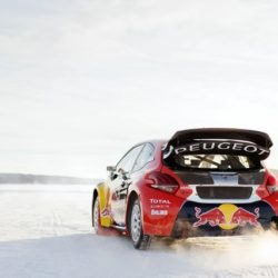 The car of Timmy Hansen  in Åre, Sweden on March 16, 2016.