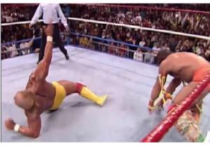 Hogan Leg drop sbagliato