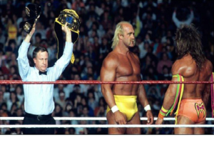 Hogan vs Ultimate Warrior face to face