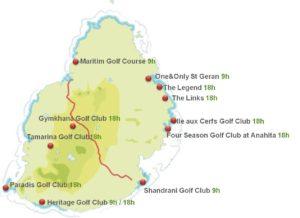 Mauritius golf map