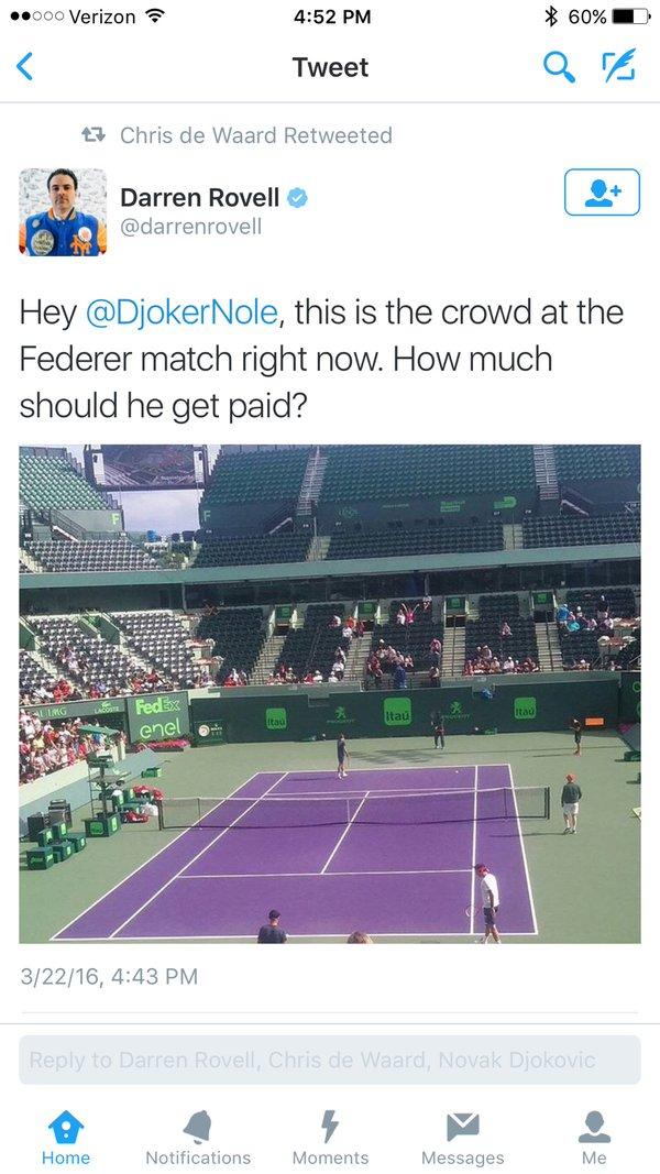 Screenshot Allenamento Federer