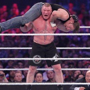 Brock Lesnar f5 Ambrose