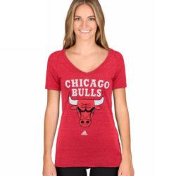 CHICAGO BULLS ADIDAS CORE SHORT SLEEVE V-NECK T-SHIRT