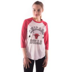 CHICAGO BULLS DOWN TO THE WIRE RAGLAN TOP WHITERED