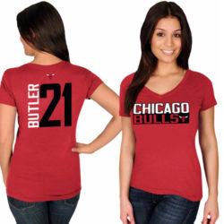 CHICAGO BULLS NAME & NUMBER V-NECK T-SHIRT
