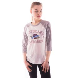 CLEVELAND CAVALIERS DOWN TO THE WIRE RAGLAN TOP WHITEGREY