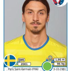 Panini Uefa EURO2016 Ibrahimovic Svezia