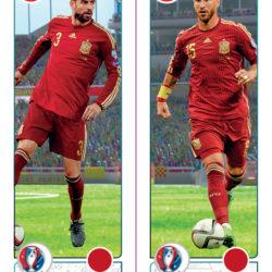 Panini Uefa EURO2016 Piquè Ramos action Spagna