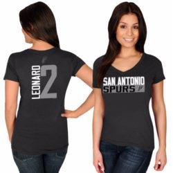 SAN ANTONIO SPURS NAME & NUMBER V-NECK T-SHIRT
