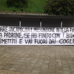 Striscione Lazio Tare