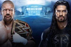 Triple h vs roman reigns