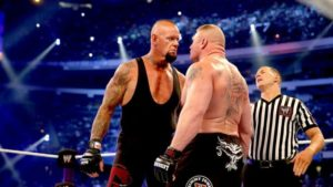 Undertaker vs lesnar face to face