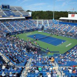 8. Il Connecticut Tennis Center ha una capienza di 15.000 spettatori nel New Haven (Connecticut) Stati Uniti ed ospita Pilot Pen Tennisun torneo di tennis professionistico sia maschile che femminile che si disputa sui campi in cemento del Cullman-Heyman Tennis Center.  Dal 2011 però il torneo maschile è stato trasferito a Winston-Salem nel Carolina del Nord.