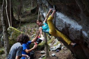 Valtellina 1-3-03 bouldering in val di mello - foto melloblocco