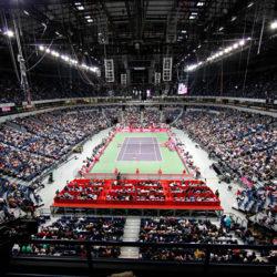 2. La Beogradska Arena è una delle più grandi strutture polivalenti d'Europa disegnata per accogliere eventi sportivi come pallacanestro, pallamano, pallanuoto, tennis  ed eventi musicali. Contiene quasi 20.000 posti a sedere e si trova a Belgrado. Nel dicembre 2010 ha ospitato la finale di Coppa Davis tra Serbia e Francia. L'Arena fu inaugurata il 31 luglio 2004. Nel complesso si tengono periodicamente fiere, congressi politici, spettacoli circensi e festival musicali.