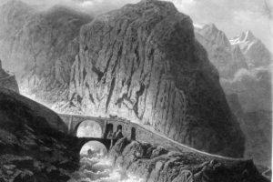 Il Ponte del Diavolo sulla gola della Schollenen - 1860