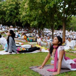 Yoga enthusiasts in Bengaluru