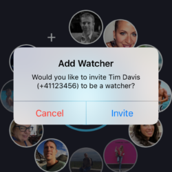 iOS Add a Watcher