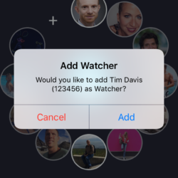 iPhone - add a Watcher