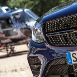 Mercedes-Benz GLC 250 Coupé; Exterieur: brilliantblau; Interieur: designo Leder Nappa platinweiß/schwarz; Kraftstoffverbrauch kombiniert: 6,9-7,3 l/100 km; CO2-Emissionen kombiniert: 159-170 g/km;exterior: brilliant blue; interior: designo Nappa Platinum white/black;fuel consumption combined: 6.9-7.3 l/100 km; CO2 emissions combined: 159-170 g/km