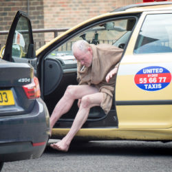 © Ian Whittaker. 09/07/2016 Paul Gascoigne outside his Dorset home, after a visit to his local off-licence. Photo credit : Ian Whittaker