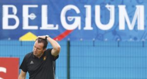 Football Soccer - Euro 2016 - Belgium Training - Girondins de Bordeaux, Le Haillan, France - 30/6/16 - Belgium head coach Marc Wilmots during training. REUTERS/Regis Duvignau