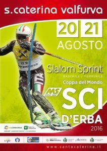 Locandina Coppa del Mondo sci d'erba Santa Caterina Valfurva