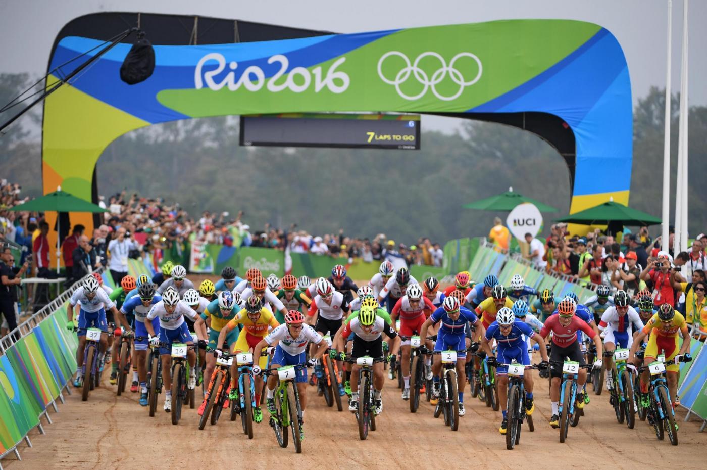 Rio 2016, mountain bike: Marco Aurelio Fontana buca e finisce indietro